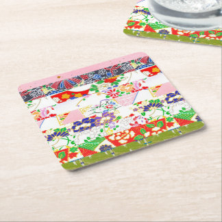 Chiyogami Rice Paper Pattern Square Paper Coaster