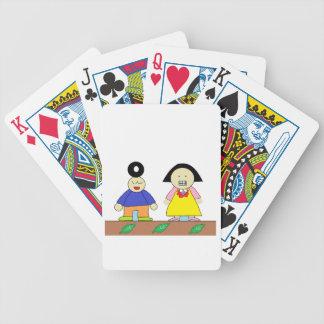 chiyonbori you and yukinko. bicycle playing cards