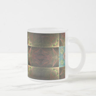 [CHK-ABS-1] Pretty fractal tile Frosted Glass Coffee Mug