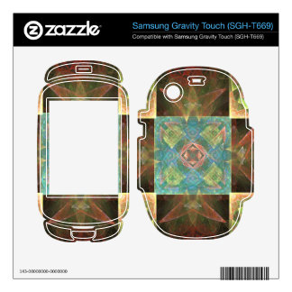 CHK-ABS-1 Pretty fractal tile Samsung Gravity Touch Skins