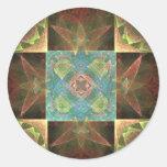 [CHK-ABS-1] Pretty fractal tile Sticker