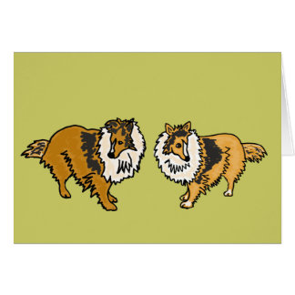 CHL- Shelties Notecards Card