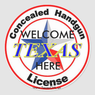 CHL Welcome Here sm Classic Round Sticker