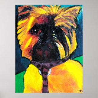 Chloe, a Brussels Grifon- Jill and Jason's dog Poster
