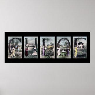 CHLOE Alphabet Letter Name Art Print