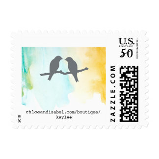 chloe and isabel watercolor stamp