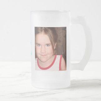 Chloe Angel Frosted Glass Beer Mug
