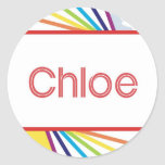 Chloe Classic Round Sticker