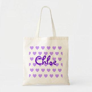 Chloe en púrpura bolsa de mano