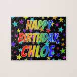 "[ Thumbnail: ""Chloe"" First Name, Fun ""Happy Birthday"" Jigsaw Puzzle ]"
