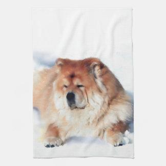 CHLOE heARTdog chow kitchen towel