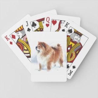 CHLOE heARTdog chow playing cards