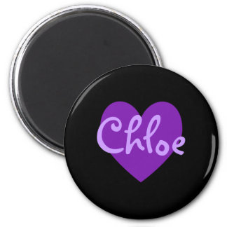 Chloe in Purple Refrigerator Magnets