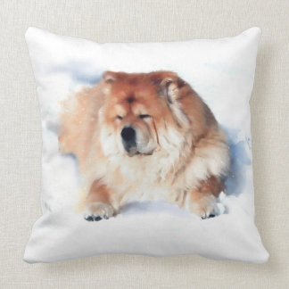 CHLOE IN THE SNOW heARTdog 2 Side pillow