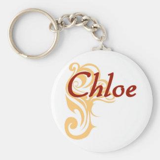 Chloe Basic Round Button Keychain