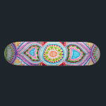 "Chloe Lambertin Mandala Skateboard. Skateboard<br><div class=""desc"">Hand-Drawn Mandala Skateboard base. Featuring the art of Chloe Lambertin.</div>"
