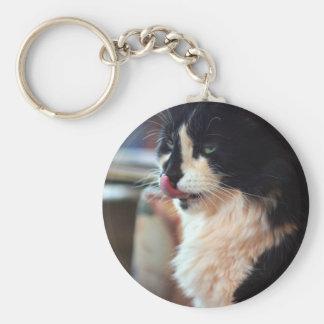 Chloe Licks Basic Round Button Keychain