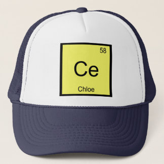 Chloe Name Chemistry Element Periodic Table Trucker Hat
