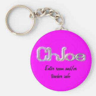 Chloe Name Tag Key Chain
