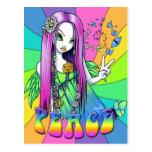 Chloe Peace Hippie Rainbow Fairy Postcard