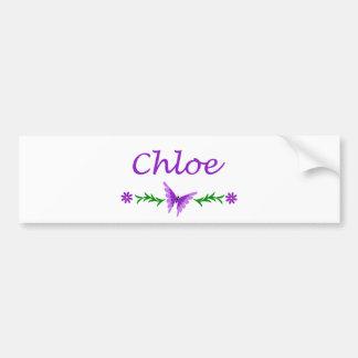 Chloe (Purple Butterfly) Bumper Sticker
