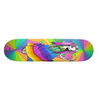 """""""Chloe"""" Rainbow Hippie Fairy Skateboard Deck"""