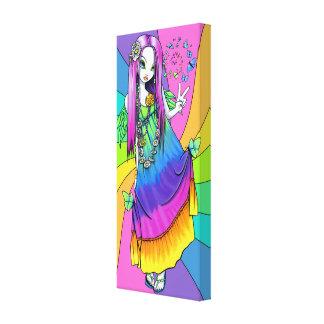"""""""Chloe"""" Rainbow Hippie Fairy Wrapped Canvas Print"""