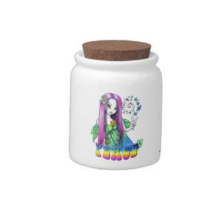 """""""Chloe"""" Rainbow Peace Hippie Fairy Candy Jar"""