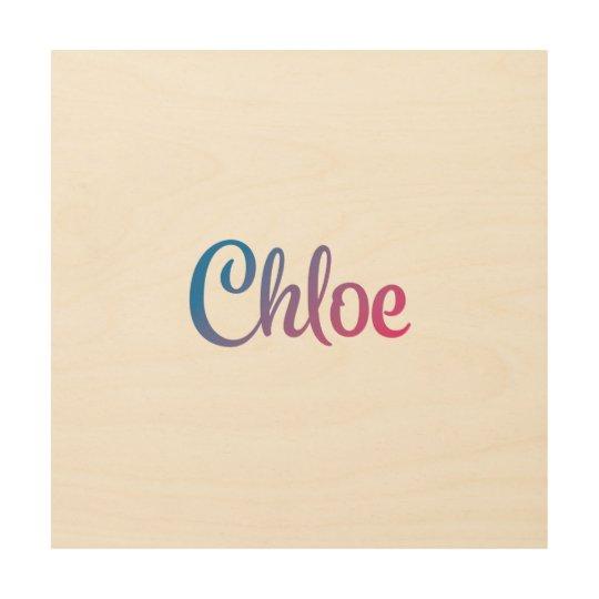 Chloe Stylish Cursive Wood Wall Decor Zazzlecom