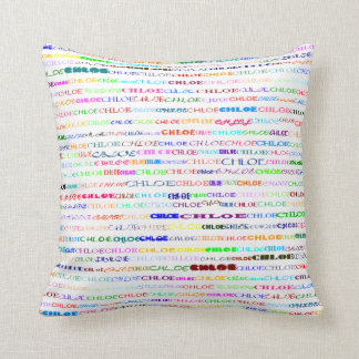 Chloe Text Design II Throw Pillow