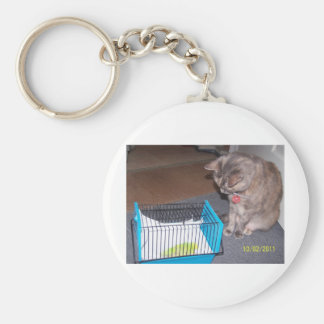 Chloe the Cat Helping you to relax Keychain