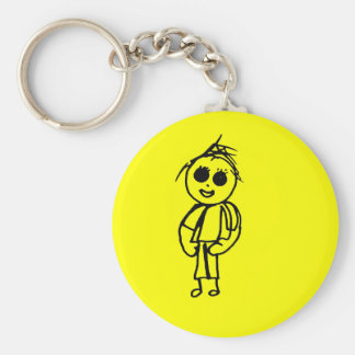 Chloe's Drawings Gift Range Basic Round Button Keychain
