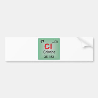 Chlorine Individual Element of the Periodic Table Bumper Stickers