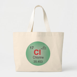 Chlorine Individual Element of the Periodic Table Large Tote Bag