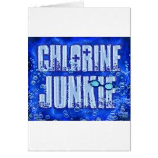 chlorine junkies greeting card