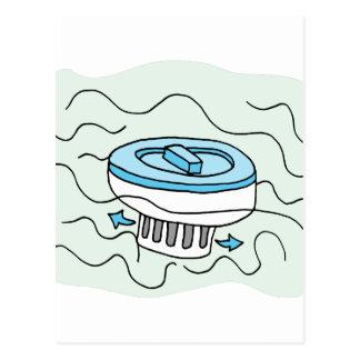 Chlorine pool dispenser postcard
