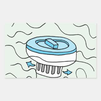 Chlorine pool dispenser rectangular sticker