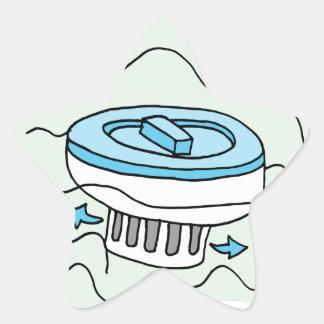Chlorine pool dispenser star sticker
