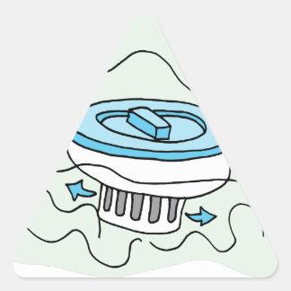Chlorine pool dispenser triangle sticker