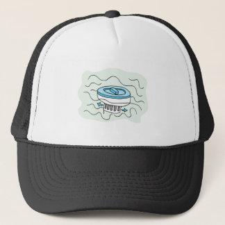 Chlorine pool dispenser trucker hat