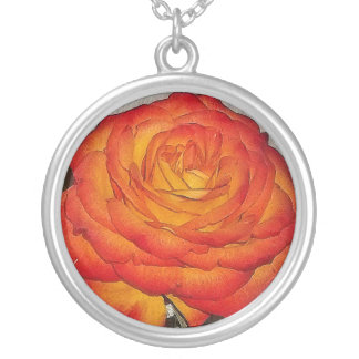 Chloris' Sunset Rose Necklace