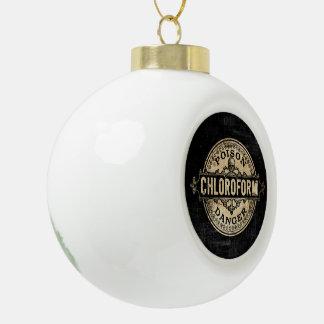Chloroform Vintage Style Poison Label Ceramic Ball Christmas Ornament