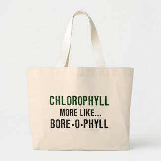 Chlorophyll Bore-o-phyll Large Tote Bag