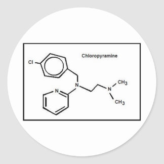 Chloropyramine Classic Round Sticker
