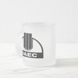 ChNPP/ЧАЭС (Chernobyl Nuclear Plant) Logo Mug, Blk Frosted Glass Coffee Mug