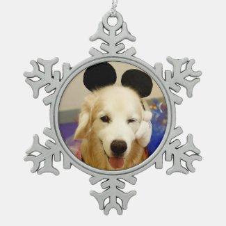CHO CHO Pewter Snowflake Ornament