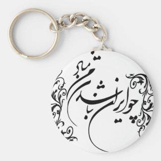 Cho Irán Nabashad Llavero Redondo Tipo Pin