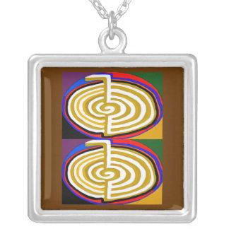 CHO KU RAY - Reiki Basic Symbol Square Pendant Necklace