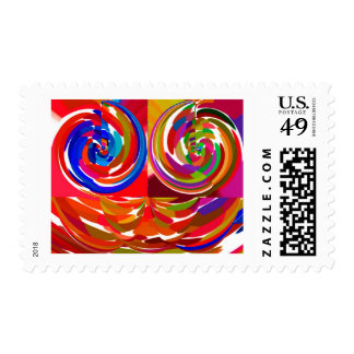 Cho ku ray - Reiki Color Therapy Healing Plate V7 Postage Stamp
