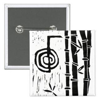 Cho Ku Rei and Bamboo Pinback Button